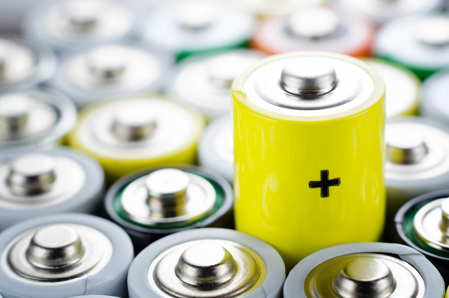 ekspozycja baterii w sklepie